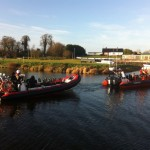 Lough Neagh Rescue's Ardboe Lifeboat returning from Callout with a boat under tow